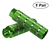 Amotor Bike Pegs, 2Pcs Aluminum Alloy Anti-Skid Lead Foot BMX Pegs (Green)