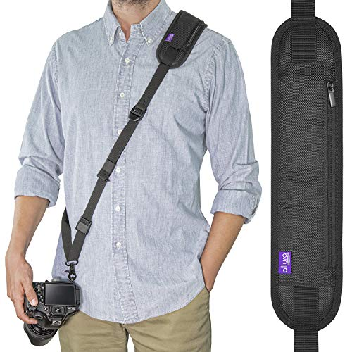 Altura Photo Camera Strap Quick Release & Safety Tether, Adjustable Camera Neck Strap, Comfortable Camera Sling Strap for Canon, Nikon & Sony, Secure & Safe Quick Release Camera Strap