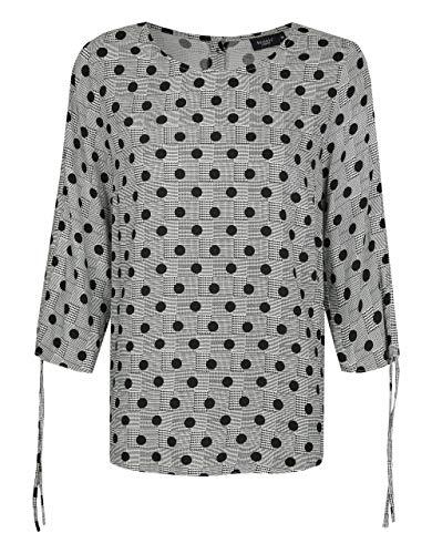 Bexleys Woman by Adler Mode Damen Druckbluse schwarz-weiß 56