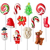 Holiday-Themed Lollipops (12 Pack) Great for Christmas Goody Bag Fillers or Christmas Stocking Stuffers