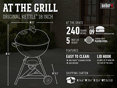 Weber Original Kettle 18 Inch Charcoal Grill Black