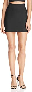 Wow Couture Womens Bandage Solid Mini Skirt