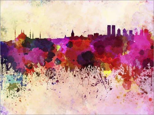 Posterlounge Acrylglasbild 70 x 50 cm: Istanbul-Skyline von Editors Choice - Wandbild, Acryl Glasbild, Druck auf Acryl Glas Bild