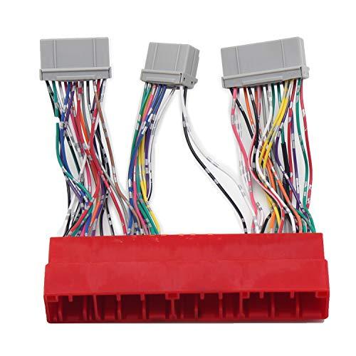 RED WOLF OBD2A auf OBD1 Adapter Kabelbaum für Honda Accord Honda Prelude Acura Integra Honda Civic Del Sol OBD2A zu OBD1 ECU Wandler Kabelbaum OBD Stecker