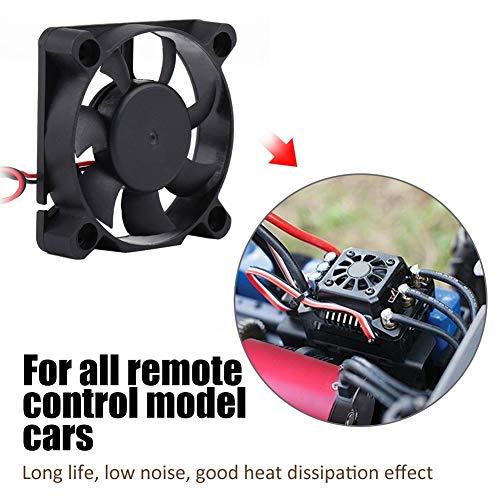 RC Modell Motor Kühlkörper, RC Motor Motor Lüfter Schwarz DC Fan Autoteile(50 * 50 mm / 2,0 * 2,0 Zoll)