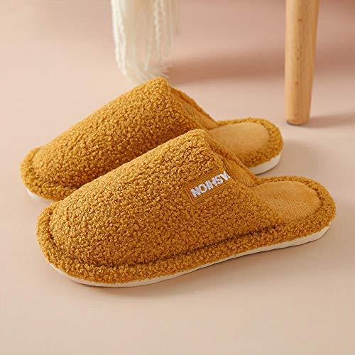 B/H Slipper Interiores y Exteriores,Zapatillas de algodón Simples de Suela Gruesa, Zapatos de casa de Moda Antideslizantes-I_35-36,Zapatilla Andar