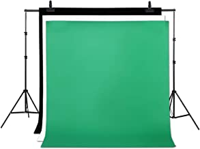 3PCS Photo Video Photography Studio Fabric Backdrop Background Screen White Black Green Backgrounds, Non-Woven Fabrics Collapsible Backdrops for Photography, Video and Television
