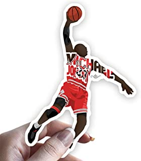 Grantedesigns Michael Jordan Sticker Basketball Decal for Laptop or Any Flat Surface
