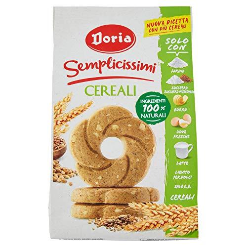 Doria - Semplicissimi Frollini ai Cereali - Biscotti Ideali per la tua Colazione - Confezione da 280 gr