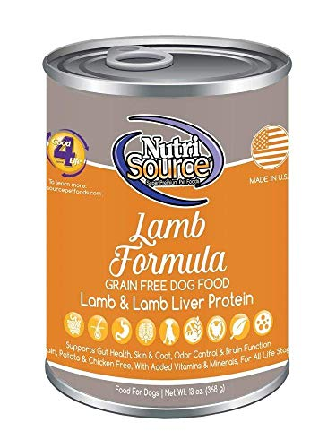 Nutrisource Grain-Free Canned Lamb Dog Food, 13 Ounce, Case Of 12