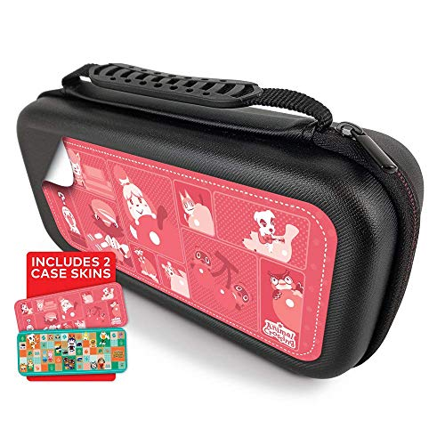 Controller Gear Protective Portable Hard Travel Carry Case Compatible with Nintendo Switch - Animal Crossing - Quilted Tone + Patches Case Skins - Nintendo Switch