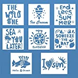 8pcs Sea Stencils for Painting On Wood Reusable...