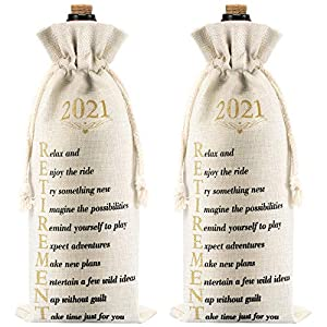 You will receive: the package comes with 2 pieces of 2021 retirement wine bags, which is an interesting retirement gift for retired family members, including husband and wife, dad, mom, sister, brother, uncle, aunt, grandpa, grandma etc., you can use...