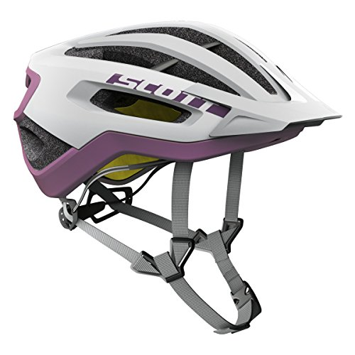 Scott Fuga Plus XC MTB Fahrrad Helm weiß/lila 2017: Größe: L (59-61cm)