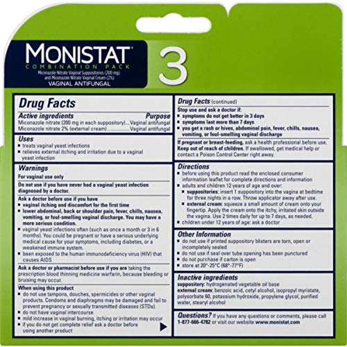 Monistat 2 Pack (3-Day Suppository and 1 Day Ovule Combination Pack)
