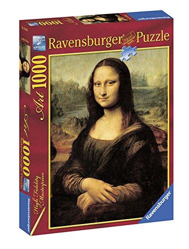 Ravensburger-15296 4 Obras de Arte Puzzle 1000 Piezas La Gioconda, Multicolor (15296 4)