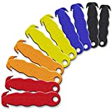 Klever Cutter Stainless Steel Package Opener, Safety Utility Cutter Assorted Colors 10 pcs