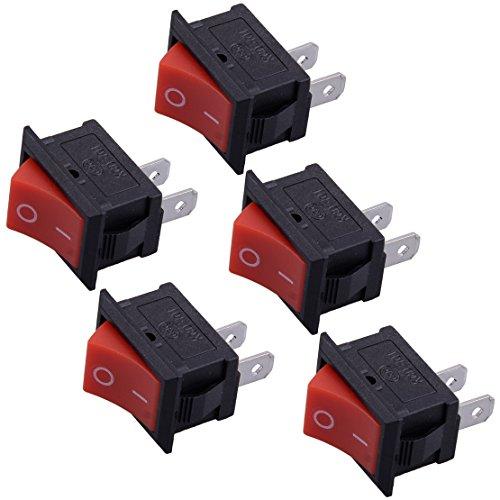 Eastar Interruptor ON-Off de Apagado/Apagado de Parada de Fuego 5Pcs para...