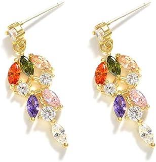MNGGNM Mode Naturel Perle deau Douce Dormeuses pour Les Femmes Fleur Zircon Bijoux en Argent 925 avec Bo/îte
