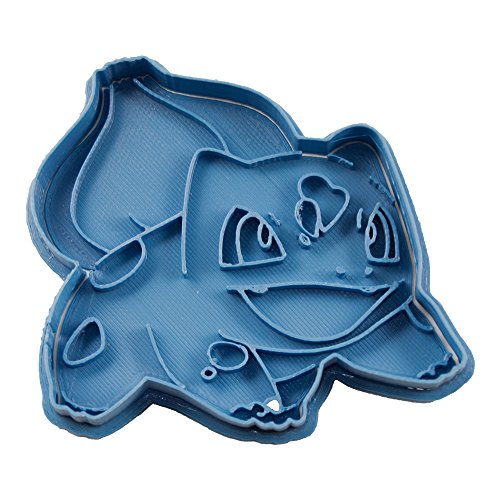 Cuticuter Bulbasaur Pokémon Keksausstecher, Blau, 8 x 7 x 1,5 cm