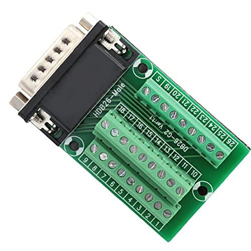 Breakout DB26 G2-01-D-SUB al adaptador masculino del módulo a la Terminal PCB Señales Junta Conector para la Industria