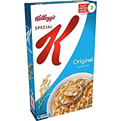 Kellogg's Special K, Breakfast Cereal, Original, Made with Folic Acid, B Vitamins, and Iron, 12oz Bo