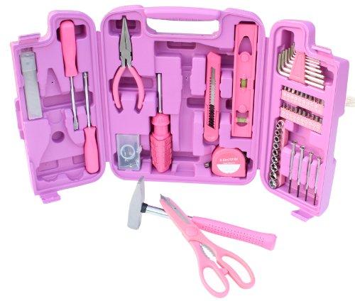96 Teiliges Werkzeugset Werkzeugkoffer in pink absolute Hingucker