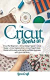 Cricut 5 Books in 1: Cricut For Beginners + Cricut Design Space + Cricut Maker + Cricut Explore Air 2 + Cricut Project Ideas. Master all the tools and start a profitable business with your machines