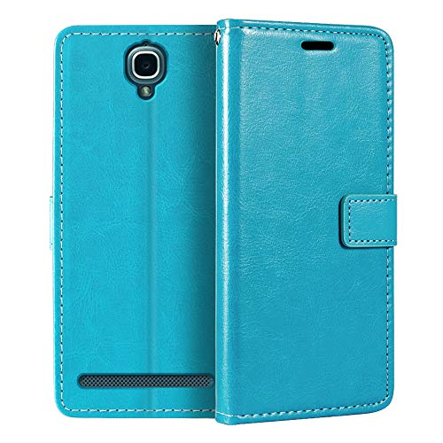 Alcatel One Touch Flash Plus Wallet Case, Premium PU Leather Magnetic Flip Case Cover with Card Holder and Kickstand for Alcatel One Touch Flash Plus