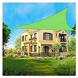 XISENOCI Tenda da Sole a triangolo ombreggiante Anti-UV, 100% Poliestere [PES] Tenda da Sole a baldacchino per giardino esterno, Patio, Cortile, Festa facile da installare (Colore: Verde, dimensioni: