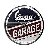 Nostalgic-Art Vespa-Garage Orologi da Parete, Multicolore, 31x6x31