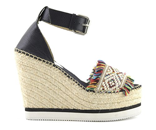 Colors Of California Jute Wedge Ankle Lace In Leath HC.JWEDGE012-S17 MUL (38)
