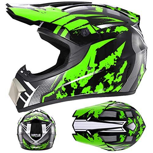 Casco de Motocross para Hombre Cascos de Moto de Cara Completa Gorras de Moto al Aire Libre Carreras de Motos en Todas Las Estaciones