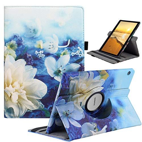 Hülle für Huawei MediaPad T3 10 , Gehäuse mit 360 drehbarer Standfunktion für Huawei MediaPad T3 10 [9.6 Zoll] Lotus
