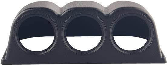 Dewhel Horizontal Black 52mm 3 Hole Triple Dash Mount Gauge Meter Pod Holder