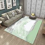 Combinación Verde y Blanco Arte Simple Textura Moderna Claro Antideslizante sofá de la Sala Alfombra Decorativa-Los 40x60cm Las alfombras Son aptas para Suelos radiantes