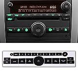 ROCCS 07-14 GM Vehicles Radio Dash Button Repair Kit Decal Fix Ruined Faded Audio Control Sticker Replacement for Denali Acadia Tahoe Silverado Escalade Buick Enclave