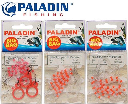 Paladin 54 Silikon Stopper Perlen Schnurstopper Spirolino Pose, Forellenangeln, Angeln auf Forelle, Größe:M