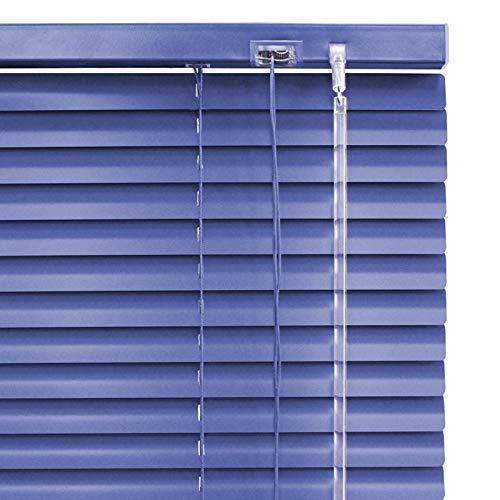 Alu Jalousie dunkel blau Marine - Breite 40 bis 220 cm - Höhe 170/240 cm - Tür Fenster Rollo Jalousette Aluminium Fensterjalousie Lamellen Metall (70 x 170 cm)