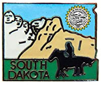 USA STATES, SOUTH DAKOTA Map - Original Artwork, Expertly Designed PIN - 1""