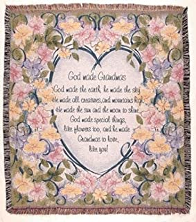 Simply Home God Made Grandmas Floral Tapestry Throw Blanket 50