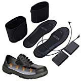 cut-to-fit heated insoles battery powered heating warm shoe pad for hunting, fishing, hiking,