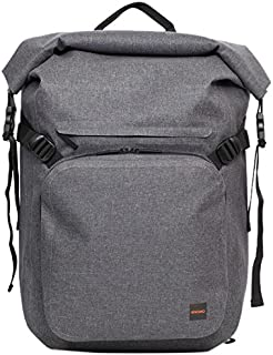 """Knomo Thames Hamilton, 14"""" Lightweight Water-Resistant Roll Top Laptop Backpack, with Device Protection, Padded and Adjustable Straps and KNOMO ID, Grey"""