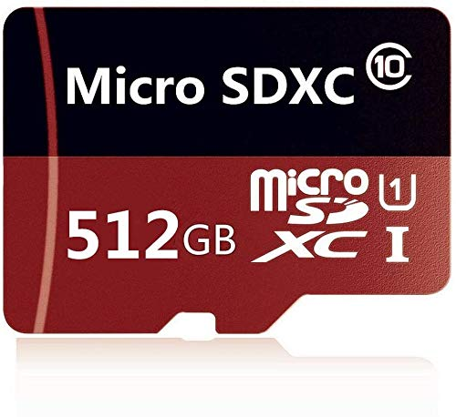 Micro SD Card 512GB, Micro SD SDXC Card High Speed Class 10 Memory Card for Phone, Tablet and PCs with Adapter