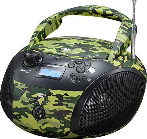 Grundig GRB 4000 BT DAB+ Tragbare Radio Boombox mit Bluetooth und DAB+ Empfang Camouflage