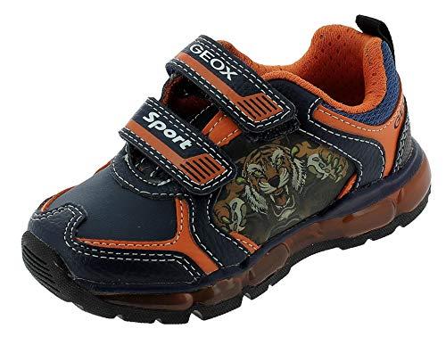 Geox J Android Boy A, Sneaker, Azul (Navy/Orange), 27 EU