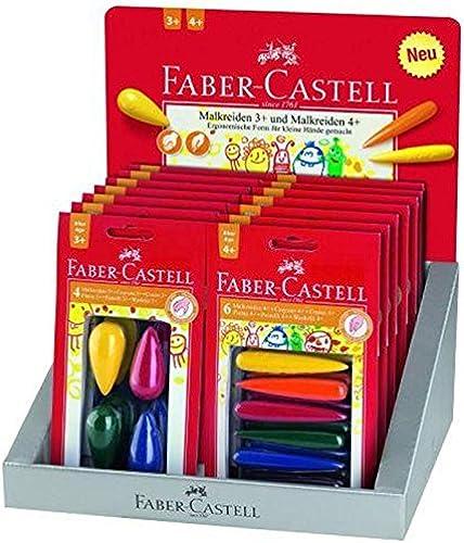 Faber Castell 201122 Etagere 16 ister plastischen Wachsmalstifte, mehrfarbig