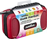 Officially Licensed Nintendo 3DS Amiibo Case – Protective Deluxe Traveler for Storage, Display or Carrying Case/Box – Red