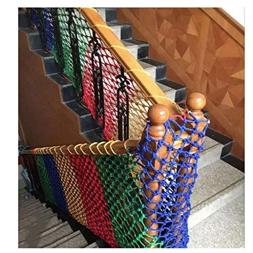 MUZILIZIYU Seguridad Red Balcón Protección Nylon Rope Protection Net, Nieve Net Decorative Net Fence Cuerda Cuerda Braidada Remolque Remolque Net Cat Net, Usado en Loft Balcony Railing Sta