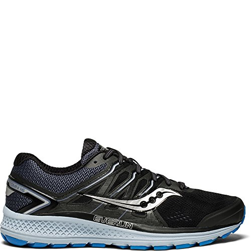 Saucony Men's Omni 16 Running Shoe, black/grey/blue, 11.5 Medium US